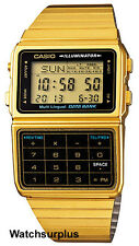 Casio DBC611G-1D Men's Vintage Gold Tone 25 Memory Data Bank Calculator Watch