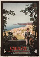 Varazze 1927 Vintage Italian Travel Poster Canvas Giclee Print 24x32 in.