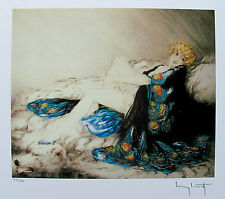 """LOUIS ICART """"SILK ROBE"""" Signed Limited Edition Small Giclee Art"""