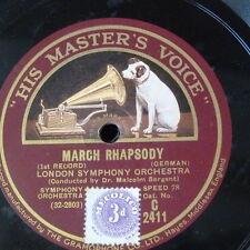 "78rpm 12"" EDWARD GERMAN - SARGENT - LSO march rhapsody 1&2 C 2411"