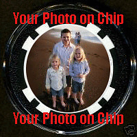 Personalized Custom Picture Photo POKER CHIP CARD GUARD