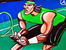 RAFAEL NADAL PRINT poster us open tennis nike mercedes