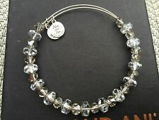 RARE ALEX and ANI VINTAGE ICE TINSEL SWAROVSKI CRYSTAL Beaded BANGLE Bracelet