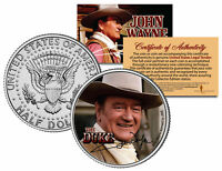JOHN WAYNE THE DUKE * Cowboy * JFK Kennedy Half Dollar US Coin - Licensed