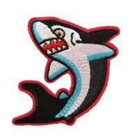 Shark Iron On Patch sew on transfer - Animal Sea life Shark Badge Embroidered