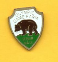 Pin's lapel pin Pins OLYMPIC GAME FARM SEQUIM WASH OURS ZOO Washington USA