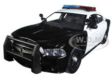2011 DODGE CHARGER PURSUIT BLACK/WHITE W/ LIGHTS & SOUND 1/24 MOTORMAX 79533
