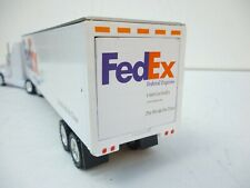 1/43 About DIE CAST FED EX COLLECTOR TRACTOR TRAILER MODEL TRUCK GOLDEN WHEELS