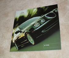 Jaguar S Type Large Format Brochure 2001 - 3.0 V6 - 3.0 V6 SE - 4.0 V8