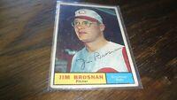 1961 TOPPS JIM BROSNAN  AUTOGRAPHED BASEBALL CARD