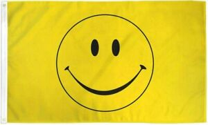 3x5FT Flag Yellow Happy Smiley Face Banner Dorm Bedroom Advertising USA