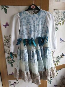 Designer Little Darlings Long Sleeve Dress Age 5