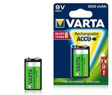 2x batería 9v Varta bloque batería lr61 e bloque 9v accu r2use 200mah 56722