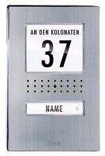 m-e Vistadoor Video-Türsprechanlage Außenstation VDV 510.1 EG Edelstahl-Front