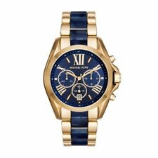 MICHAEL KORS BLUE DIAL STAINLESS STEEL CHRONOGRAPH LADIES WATCH MK6268