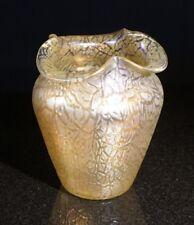 Beautifu Loetz Iridescent Candia Mimosa Vase Circa 1904 With Ground Pontil