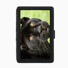 Black Panther D1 Black Cigarette Case Metal Wallet RFID Protection