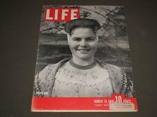 1945 MARCH 19 LIFE MAGAZINE - DUTCH GIRL - BO 242