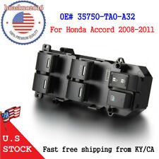 Master Window Switch Front Left for Honda Accord 2008-2011 2.4L 3.5L Driver Side
