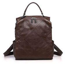Vintage Women Genuine Real Cow Leather Backpack Shoulder Messenger Bag Handbag