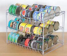 3 piani in acciaio possono Scaffale Food Storage Rack Armadio Da Cucina Salvaspazio Stand
