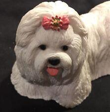 Design Quest White Maltese Dog
