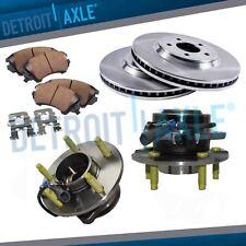 Front Brake Rotor Ceramic Pad Wheel Hub Kit for Chevy Equinox Saturn Vue Torrent