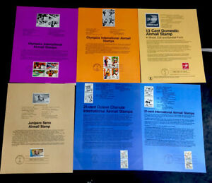 ODZ & ENDZ(9-11)6 G-VG DIFFERENT AIRMAIL FIRST DAY OF ISSUE SOUVENIR PAGES 1636