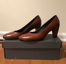 Ecco Brown Leather Heel Size 7