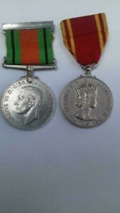 WW2 Defence medal and fire brigade long service medal Cornwall address