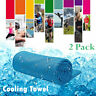 Cooling Towel 2 Pack Ice Towel Neck Wrap For Sports Running Jogging Gym Chilly