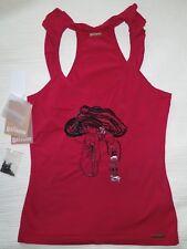 Wie neu John Galliano Shirt Top Rüschen Pailetten Steine Gr S-M NP 219€