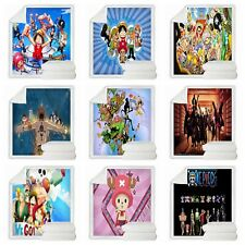 Anime One Piece 3D Print Sherpa Blanket Sofa Couch Quilt Cover Throw R56