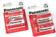 8 x PANASONIC D Size XL R20 LR20 BATTERIES Zinc Carbon 1.5v Battery SEALED PACKS