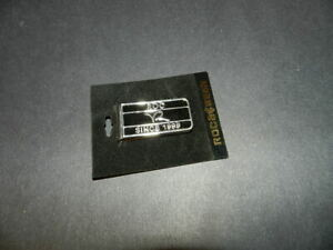 """ROCAWEAR TM money clip """"ROC SINCE 1999"""" silver tone black enamel NEW Authentic"""