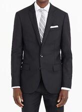 J. CREW Ludlow Suit Jacket Italian Wool Sz 44R Black Loro Piana Blazer NWT $425