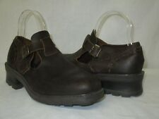 Vintage MIA Brazil Brown Thick Leather Chunky Heel Mary Janes Oxfords Shoes 8.5