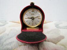 Jaeger Vintage Swiss JAEGER Recital 8 day Alarm clock w/ Leather Case