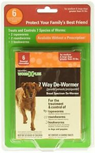 SENTRY Worm X Plus 7 Way DeWormer Large Dogs, 6 count (Package may vary)