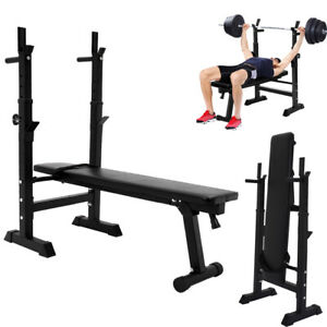 Folding Flat Weight Lifting Bench Body Workout Exercise Machine Home Fitness up
