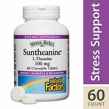 Stress-Relax by Natural Factors, Suntheanine L-Theanine 100 mg Chewable, Support