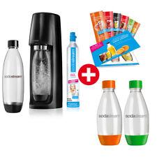 SodaStream Easy Vorteilspack Wassersprudler ink. 4 Flaschen Soda Stream Schwarz