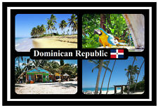DOMINICAN REPUBLIC - SOUVENIR NOVELTY FRIDGE MAGNET - FLAG / SIGHTS - NEW / GIFT