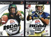 NCAA Football PS2 Lot 2003,2005,2006,2007,2008 EA Sports Playstation 2