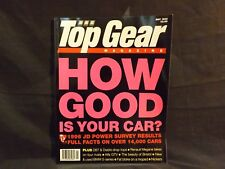 TOP GEAR MAGAZINE ISSUE 32 MAY 1996. 1996 JD POWER SURVEY RESULTS. DB7 VOLANTE.
