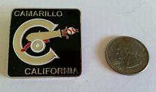 Enamel Lapel Pin Camarillo California Square Metal