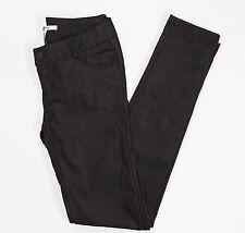 Stradivaius pantalone eco pelle nuovo donna slim skinny hot marrone 38 w24 T1110