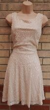 NEW LOOK DUSTY PINK NUDE SEQUIN BEADED SEQUINS PARTY SKATER FLIPPY DRESS 12 M