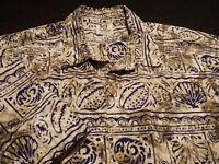 Rum Reggae Mens XL Short Sleeve Button-Front Multicolor Tropical Hawaiian Shirt