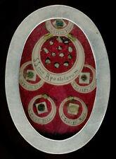 old relics theca B.MARIA V. SS.APOSTOLORUM JOSEPH AMBROSII CAROLI GEORGII 19Th.